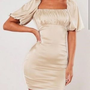 champagne missguided dress